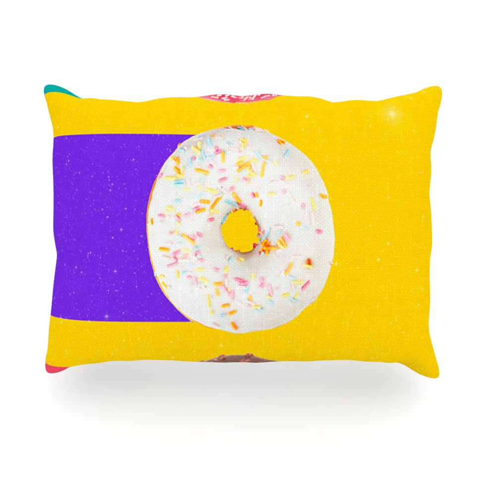 "Danny Ivan ""Donuts"" Oblong Pillow - KESS InHouse"