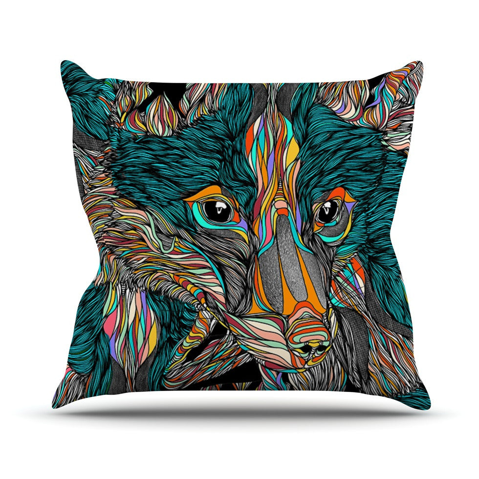 "Danny Ivan ""Fox"" Throw Pillow - KESS InHouse  - 1"