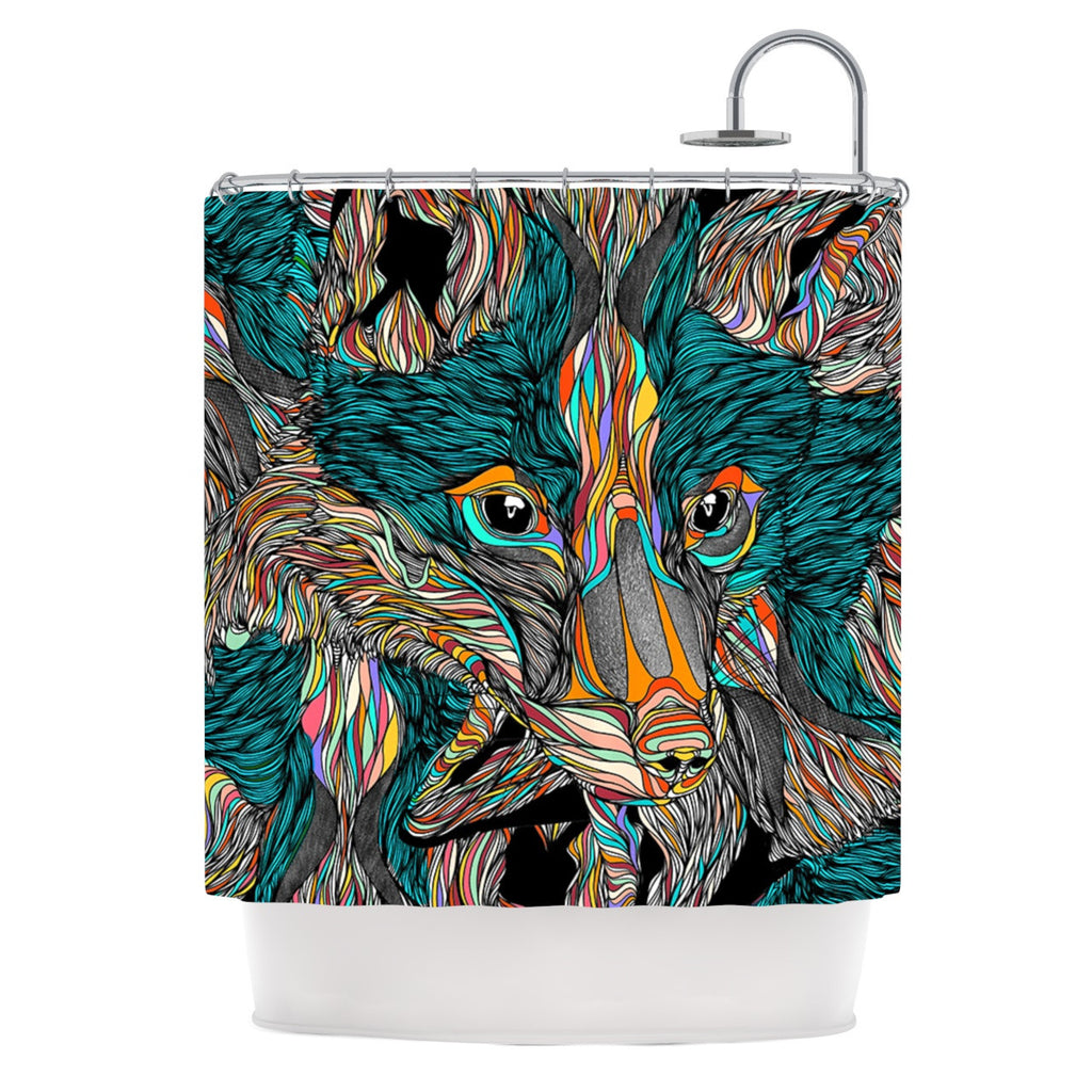 "Danny Ivan ""Fox"" Shower Curtain - KESS InHouse"