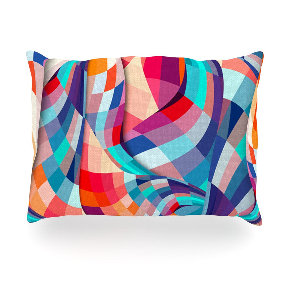 "Danny Ivan ""Versicolor"" Oblong Pillow - KESS InHouse"