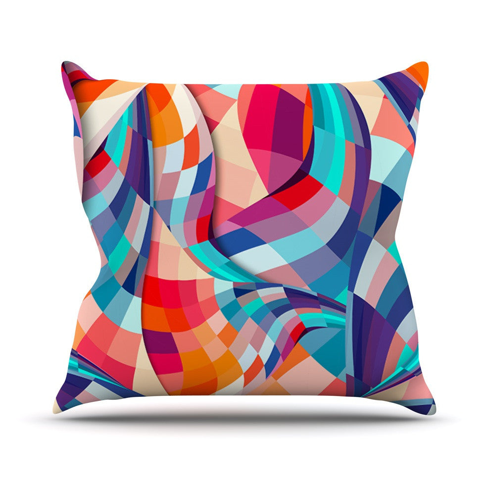 "Danny Ivan ""Versicolor"" Outdoor Throw Pillow - KESS InHouse  - 1"
