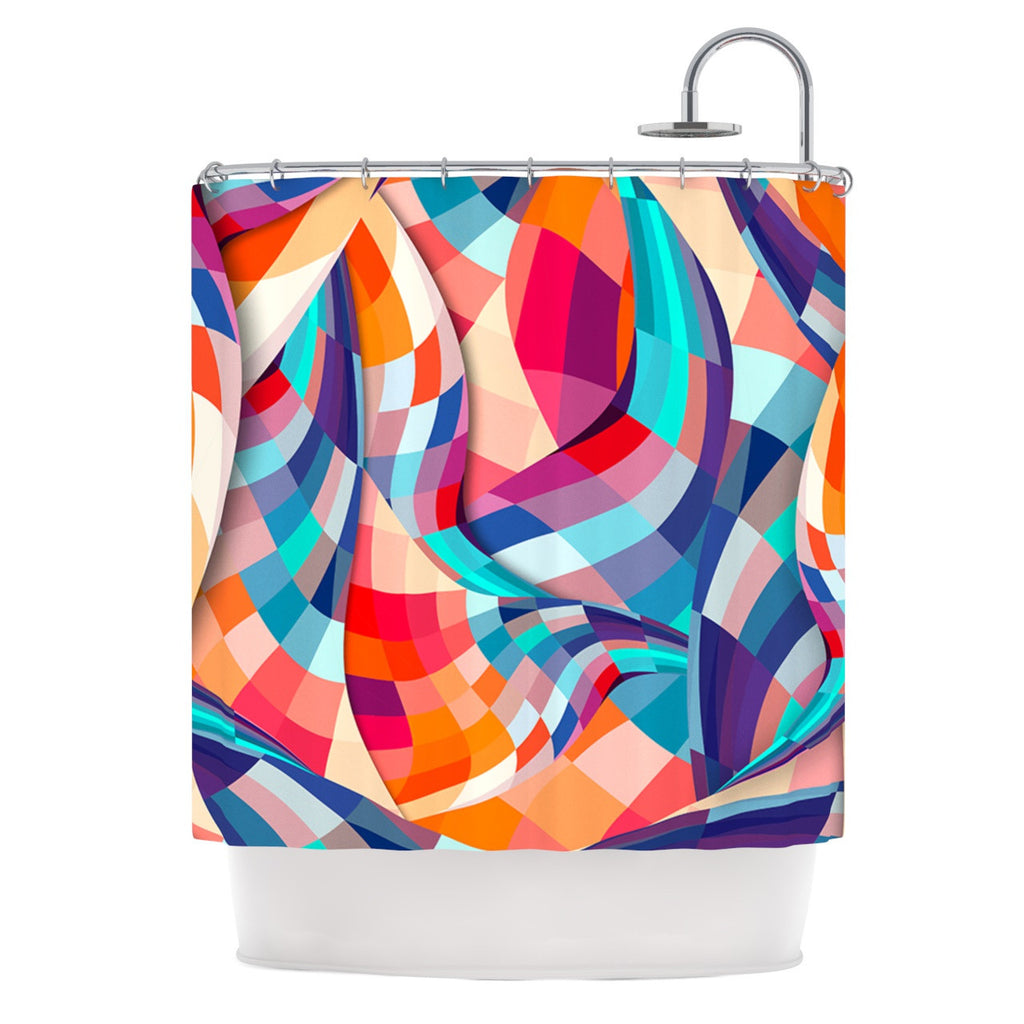 "Danny Ivan ""Versicolor"" Shower Curtain - KESS InHouse"