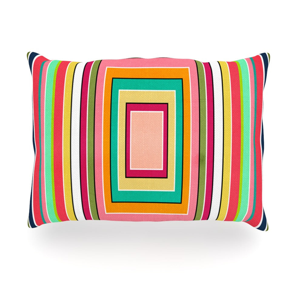 "Danny Ivan ""Floor Pattern"" Oblong Pillow - KESS InHouse"
