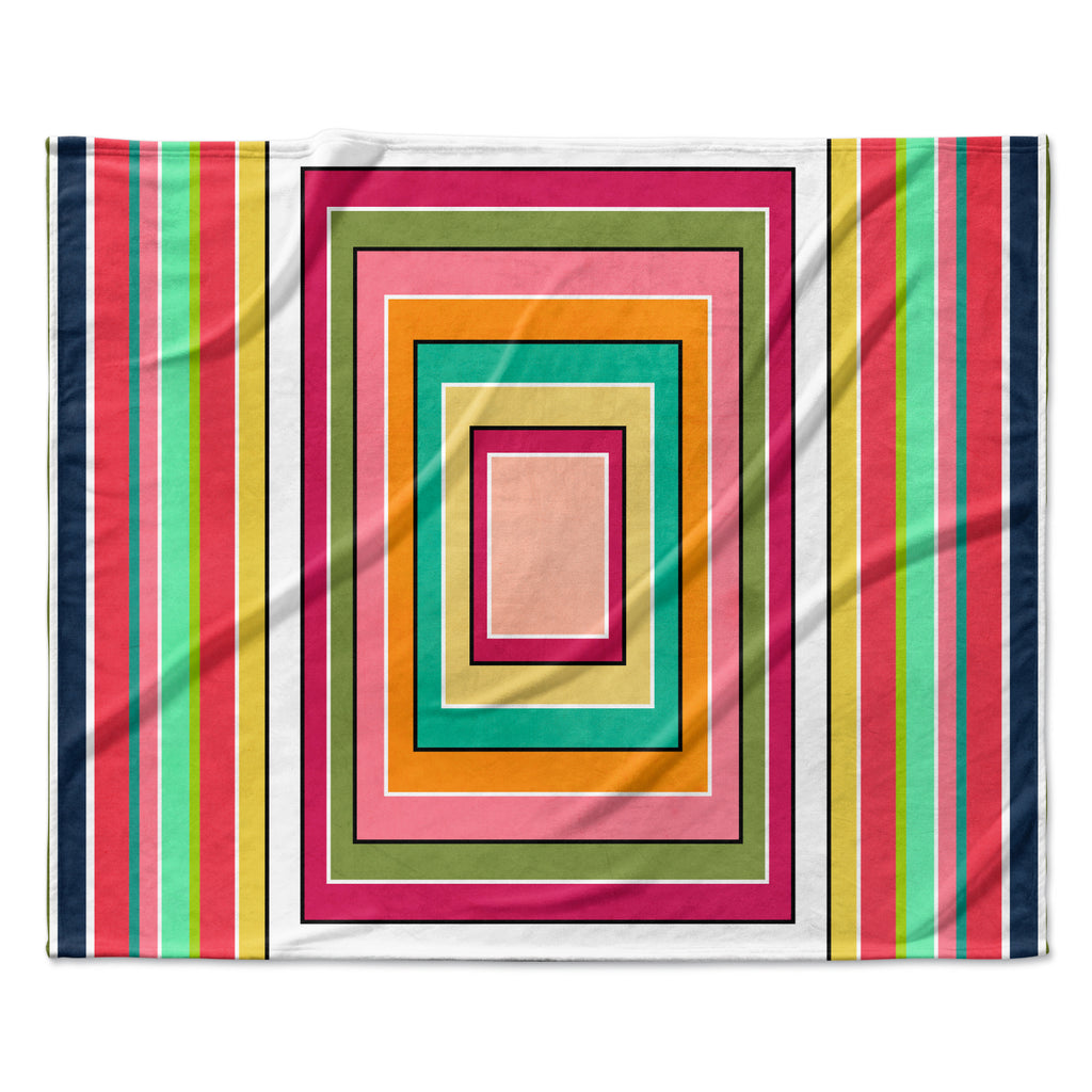 "Danny Ivan ""Floor Pattern"" Fleece Throw Blanket"