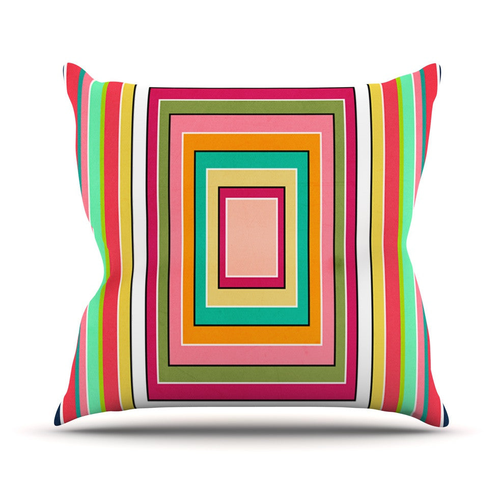 "Danny Ivan ""Floor Pattern"" Throw Pillow - KESS InHouse  - 1"