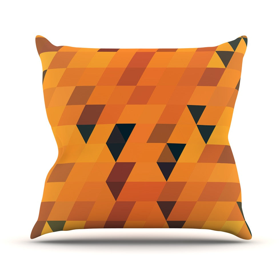 "Danny Ivan ""Gold Pattern"" Throw Pillow - KESS InHouse  - 1"