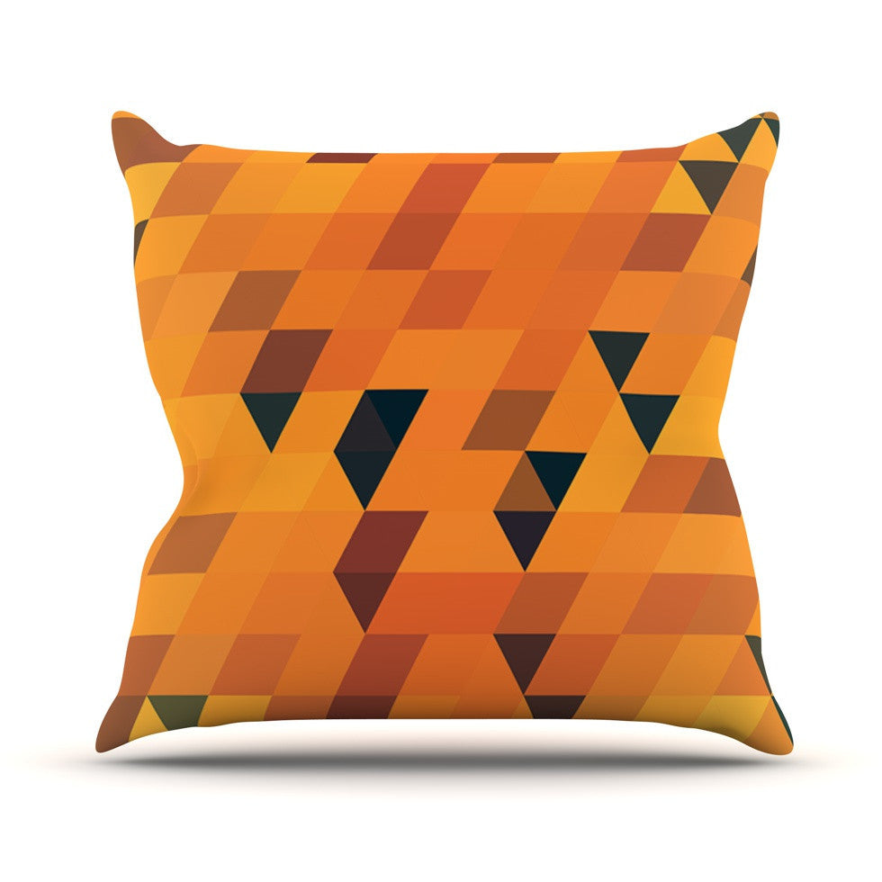 "Danny Ivan ""Gold Pattern"" Outdoor Throw Pillow - KESS InHouse  - 1"