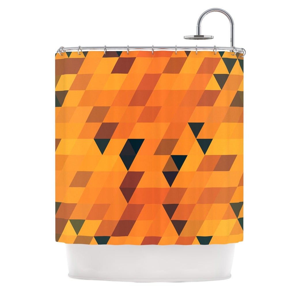 "Danny Ivan ""Gold Pattern"" Shower Curtain - KESS InHouse"