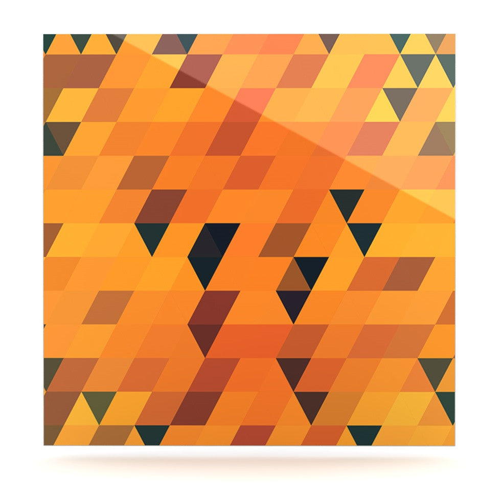"Danny Ivan ""Gold Pattern"" Luxe Square Panel - KESS InHouse  - 1"