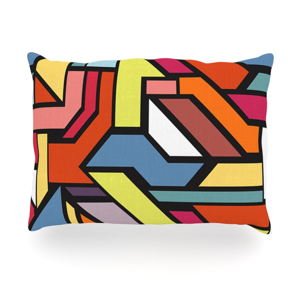 "Danny Ivan ""Abstract Shapes"" Oblong Pillow - KESS InHouse"