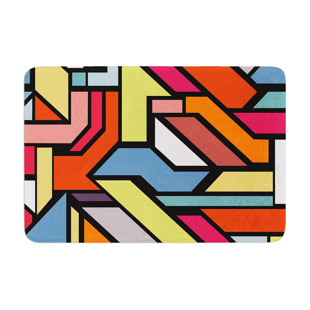 "Danny Ivan ""Abstract Shapes"" Memory Foam Bath Mat - KESS InHouse"