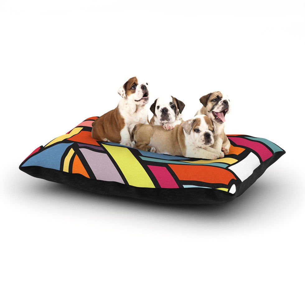 "Danny Ivan ""Abstract Shapes"" Dog Bed - KESS InHouse  - 1"