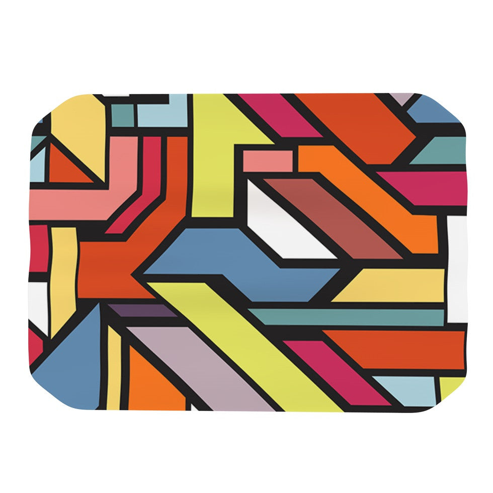 "Danny Ivan ""Abstract Shapes"" Place Mat - KESS InHouse"