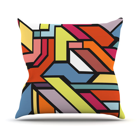 "Danny Ivan ""Abstract Shapes"" Outdoor Throw Pillow - Outlet Item"