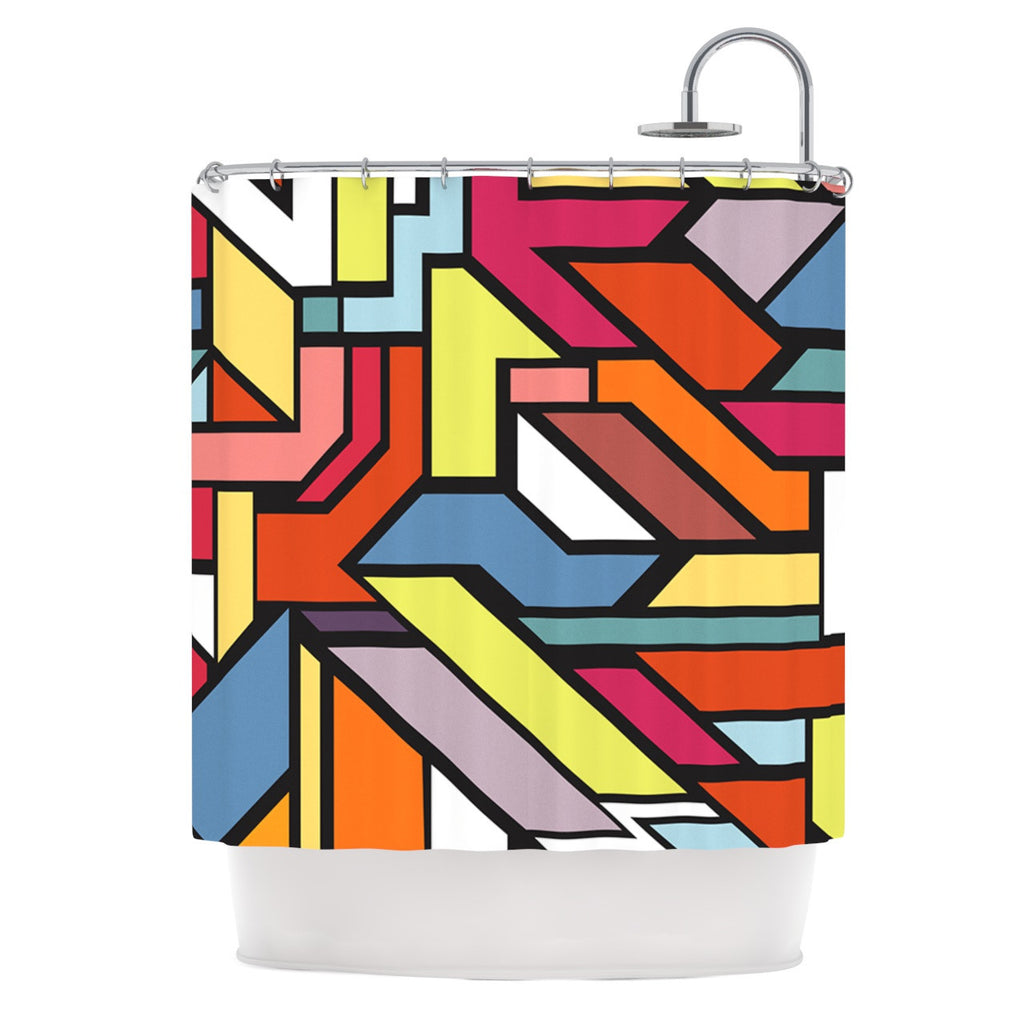 "Danny Ivan ""Abstract Shapes"" Shower Curtain - KESS InHouse"