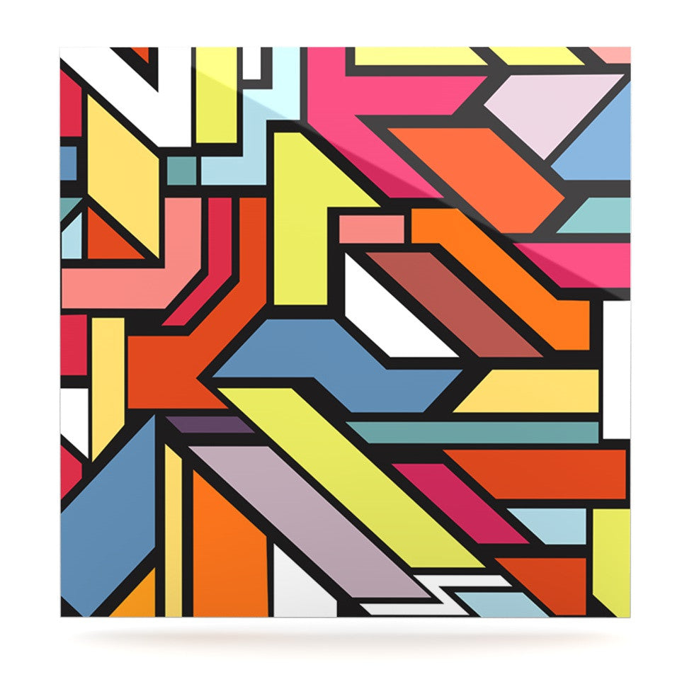 "Danny Ivan ""Abstract Shapes"" Luxe Square Panel - KESS InHouse  - 1"