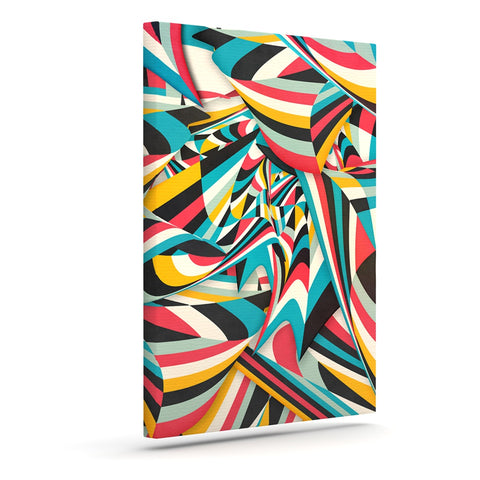"Danny Ivan ""Don't Come Close"" Abstract Blue Art Canvas - Outlet Item"