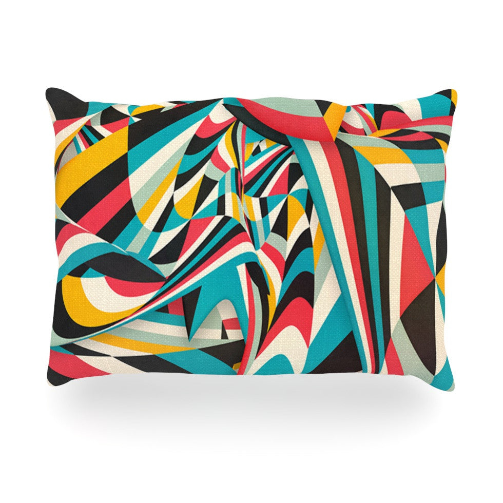 "Danny Ivan ""Don't Come Close"" Abstract Blue Oblong Pillow - KESS InHouse"