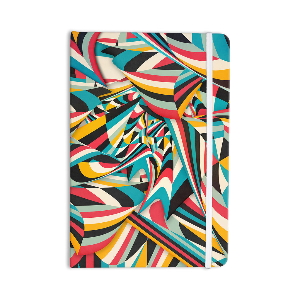 "Danny Ivan ""Don't Come Close"" Abstract Blue Everything Notebook - KESS InHouse  - 1"