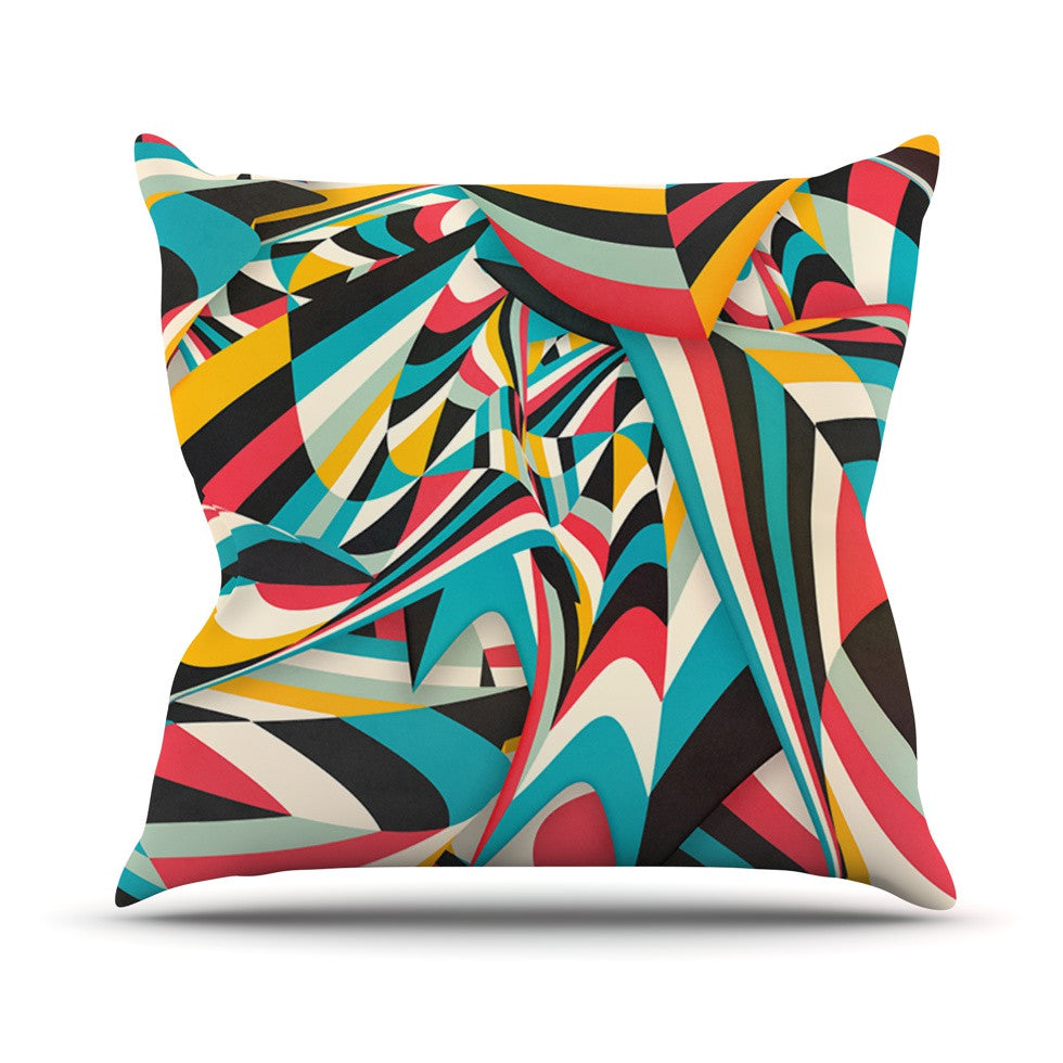 "Danny Ivan ""Don't Come Close"" Abstract Blue Throw Pillow - KESS InHouse  - 1"