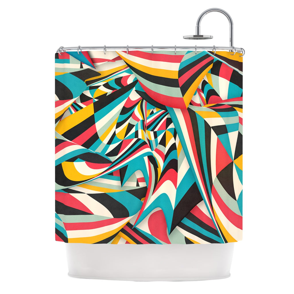"Danny Ivan ""Don't Come Close"" Abstract Blue Shower Curtain - KESS InHouse"