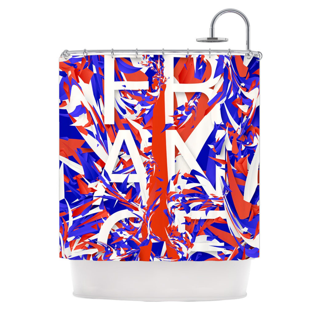 "Danny Ivan ""France"" World Cup Shower Curtain - KESS InHouse"