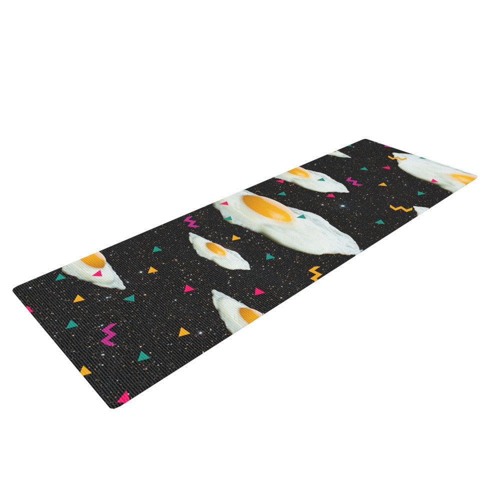 "Danny Ivan ""Funky Egg Galaxy"" Space Abstract Yoga Mat - KESS InHouse  - 1"