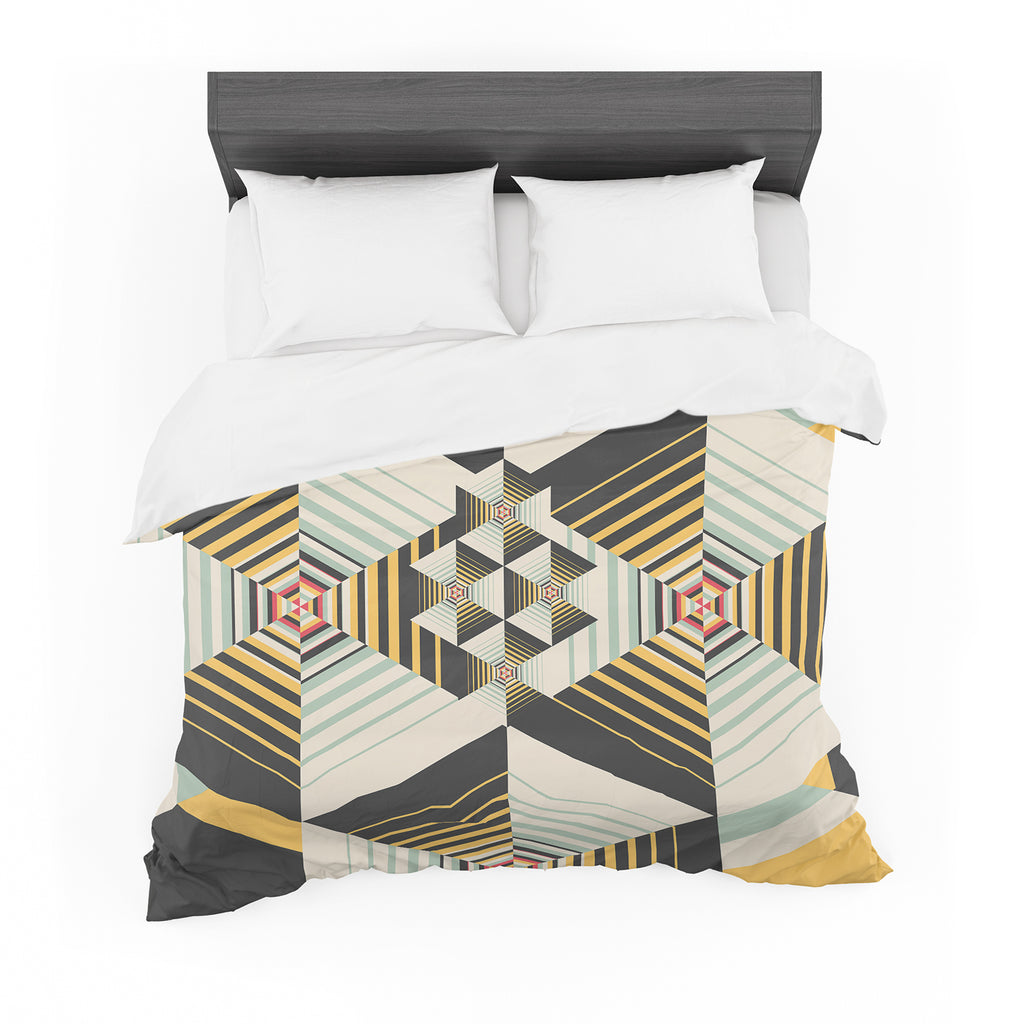 "Danny Ivan ""La Plus"" Black Yellow Cotton Duvet"