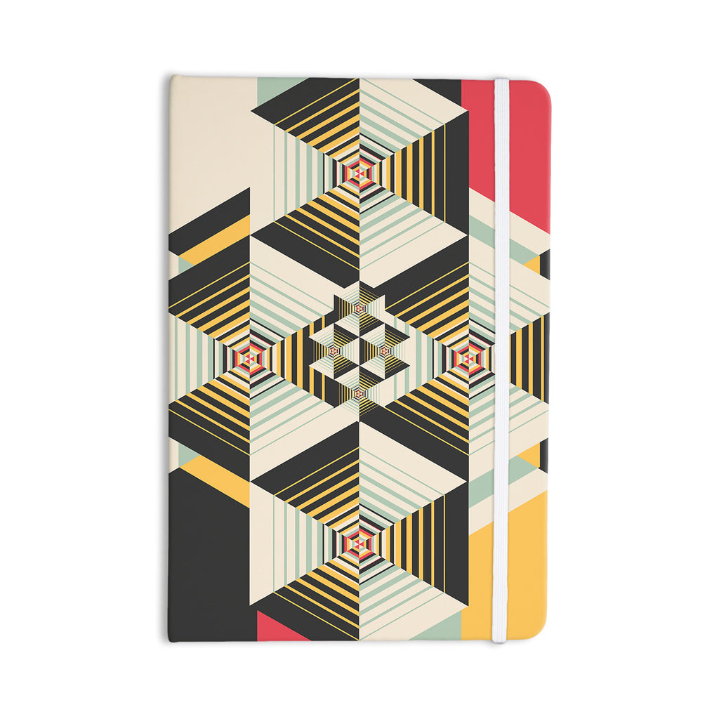 "Danny Ivan ""La Plus"" Black Yellow Everything Notebook - KESS InHouse  - 1"
