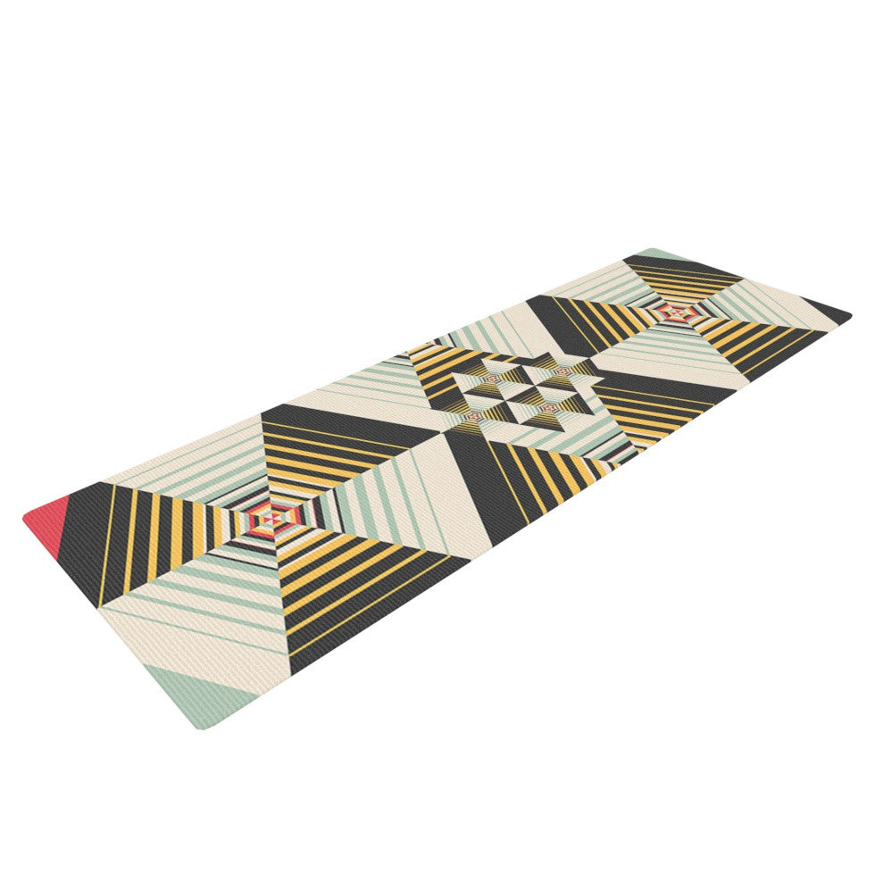 "Danny Ivan ""La Plus"" Black Yellow Yoga Mat - KESS InHouse  - 1"