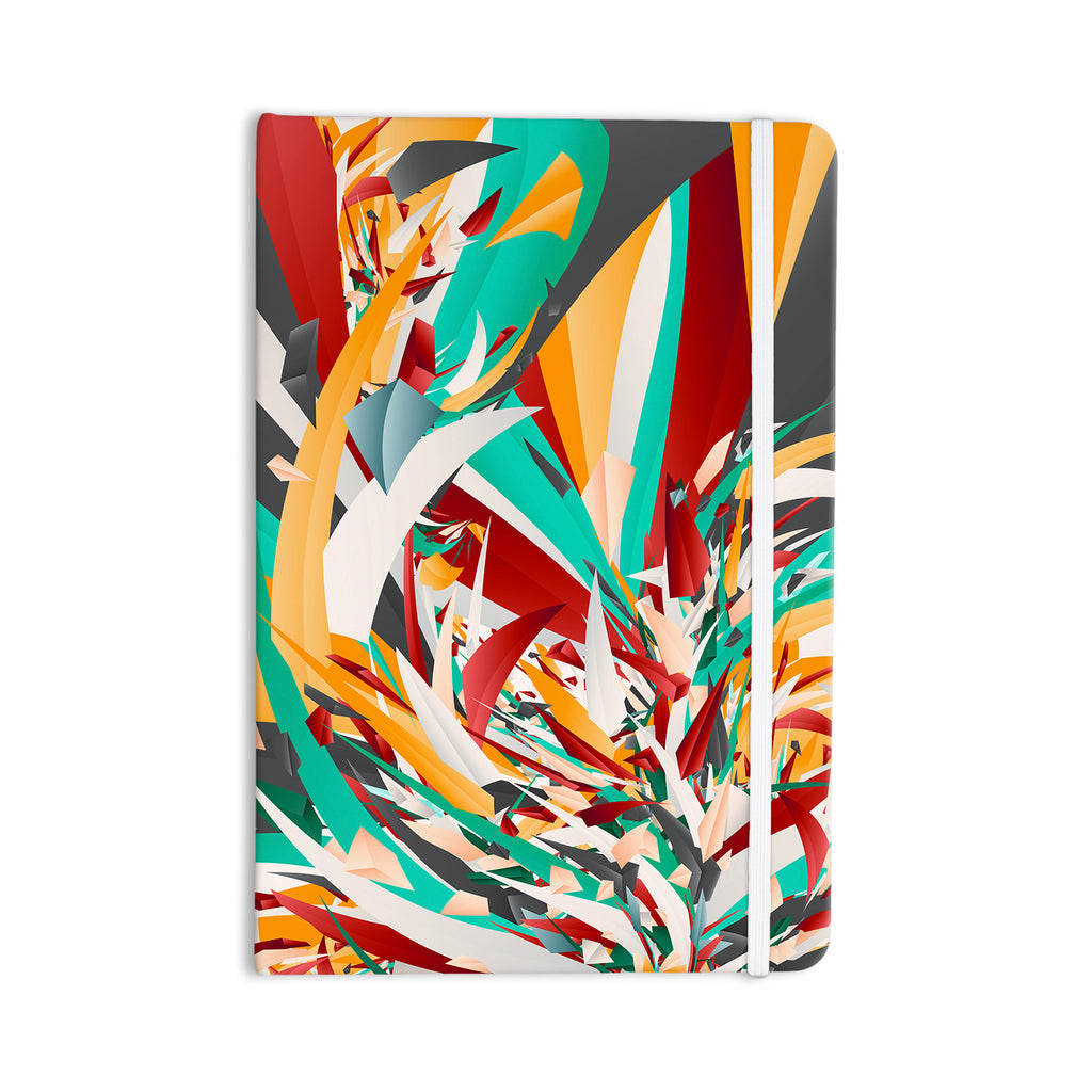"Danny Ivan ""Lafaye"" Teal Red Everything Notebook - KESS InHouse  - 1"