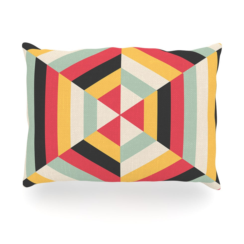"Danny Ivan ""On Call"" Red Yellow Oblong Pillow - KESS InHouse"