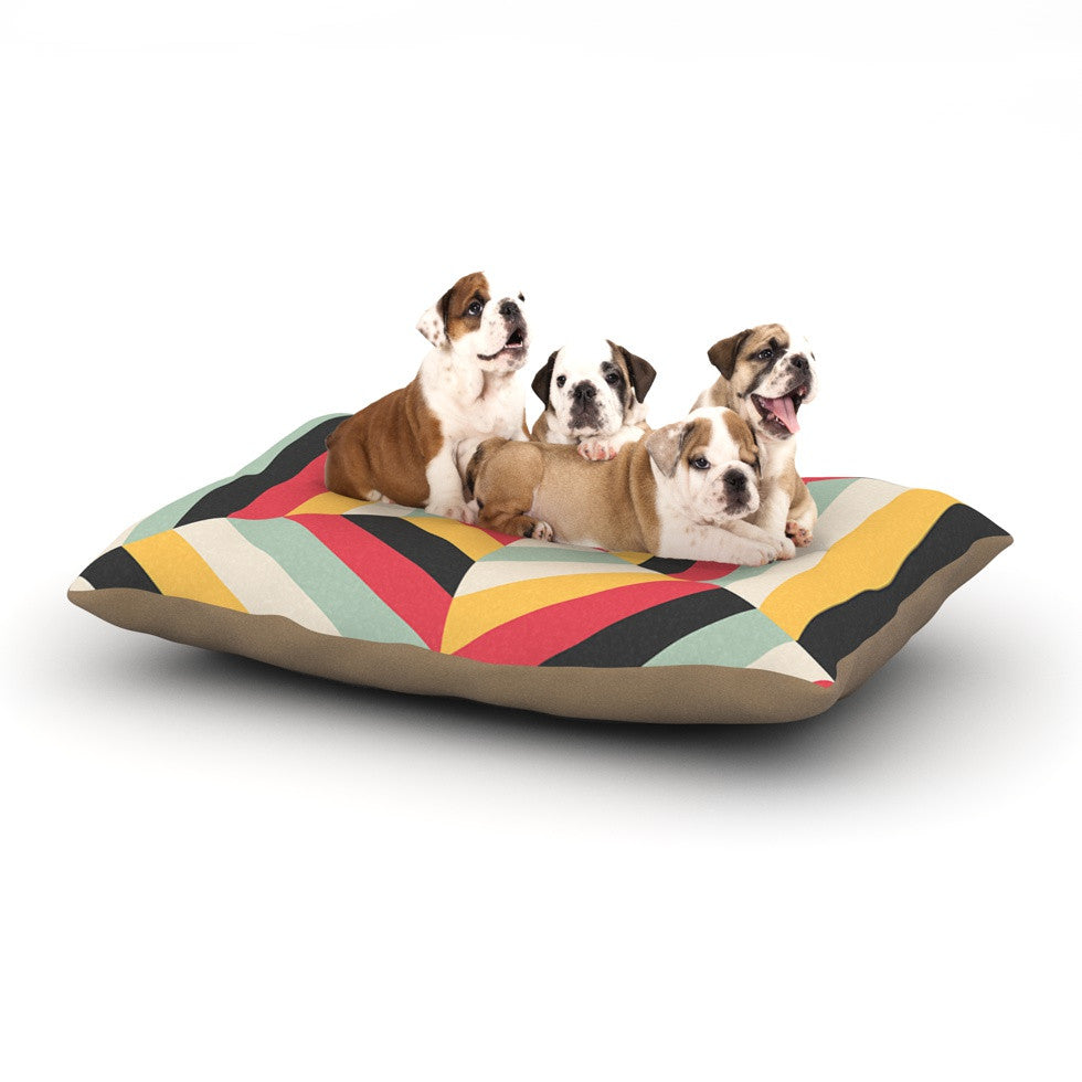 "Danny Ivan ""On Call"" Red Yellow Dog Bed - KESS InHouse  - 1"