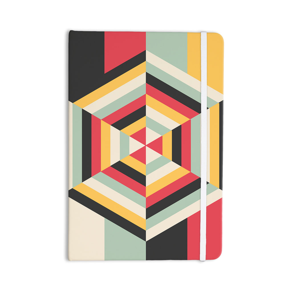 "Danny Ivan ""On Call"" Red Yellow Everything Notebook - KESS InHouse  - 1"