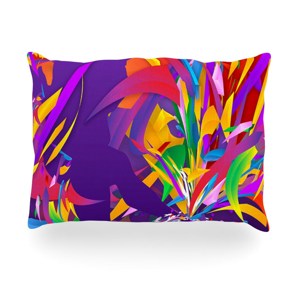 "Danny Ivan ""Shooting"" Rainbow Purple Oblong Pillow - KESS InHouse"