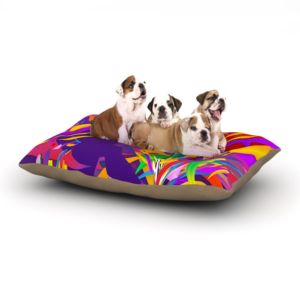 "Danny Ivan ""Shooting"" Rainbow Purple Dog Bed - KESS InHouse  - 1"