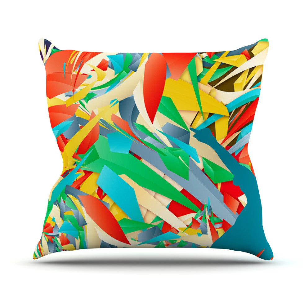 "Danny Ivan ""Soccer Slide"" Crazy Rainbow Throw Pillow - KESS InHouse  - 1"