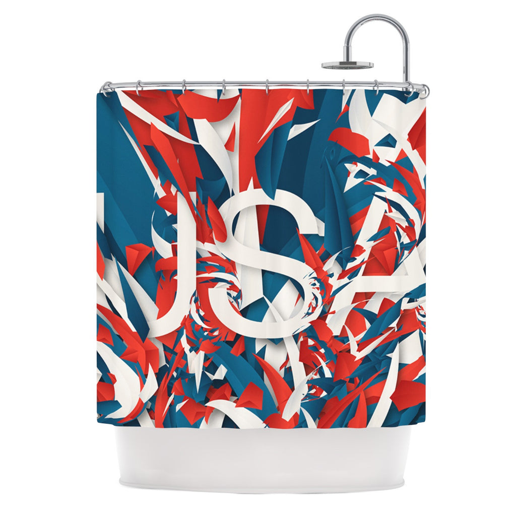 "Danny Ivan ""USA"" World Cup Shower Curtain - KESS InHouse"