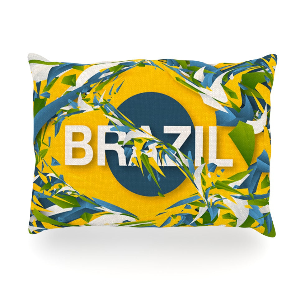 "Danny Ivan ""Brazil"" World Cup Oblong Pillow - KESS InHouse"