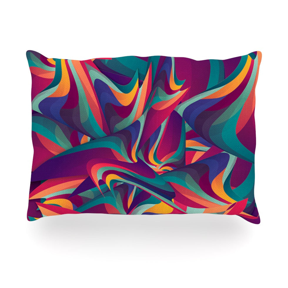 "Danny Ivan ""Wrong Past"" Teal Purple Oblong Pillow - KESS InHouse"