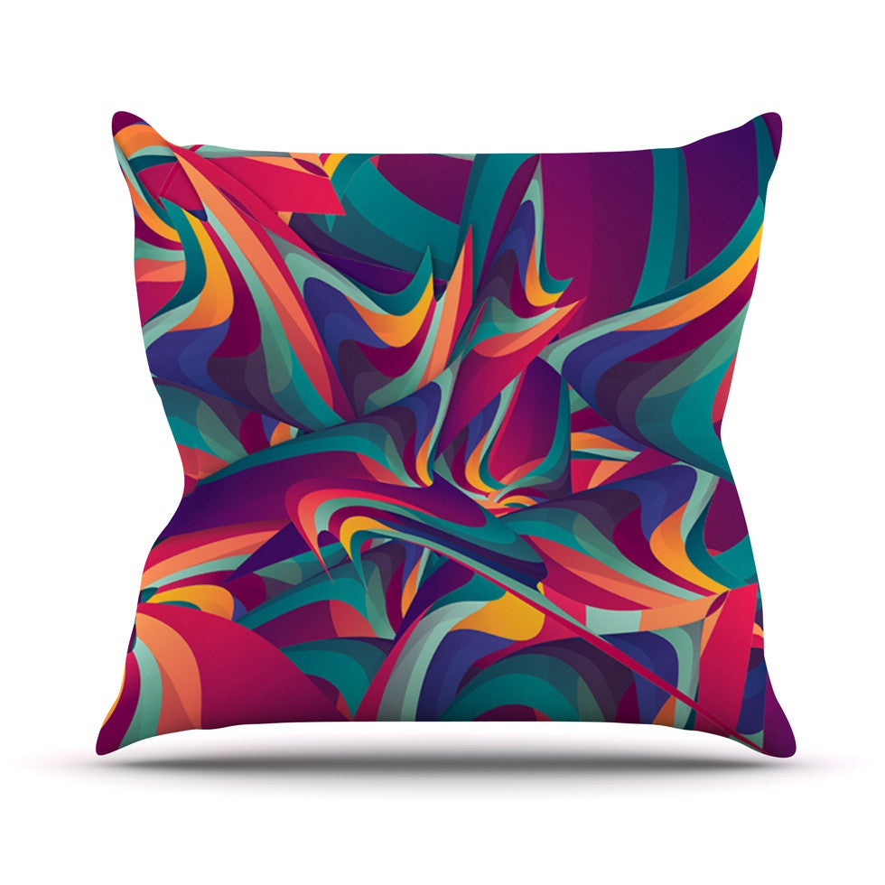 "Danny Ivan ""Wrong Past"" Teal Purple Throw Pillow - KESS InHouse  - 1"