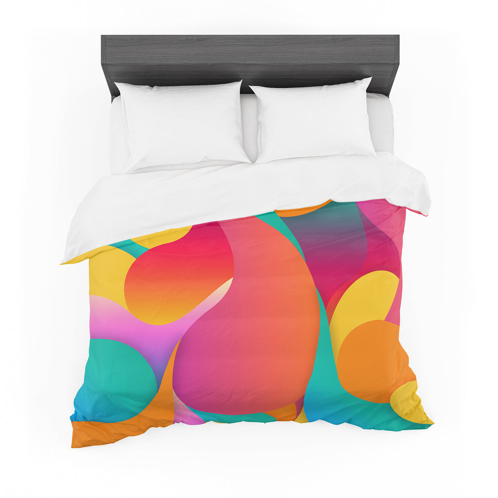 "Danny Ivan ""Still Life"" Warm Abstract Cotton Duvet"