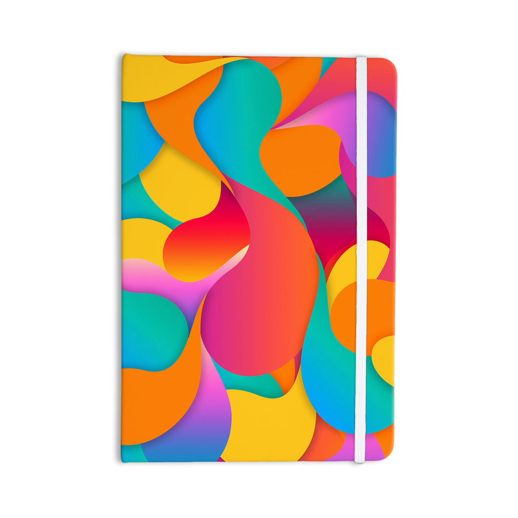 "Danny Ivan ""Still Life"" Warm Abstract Everything Notebook - KESS InHouse  - 1"