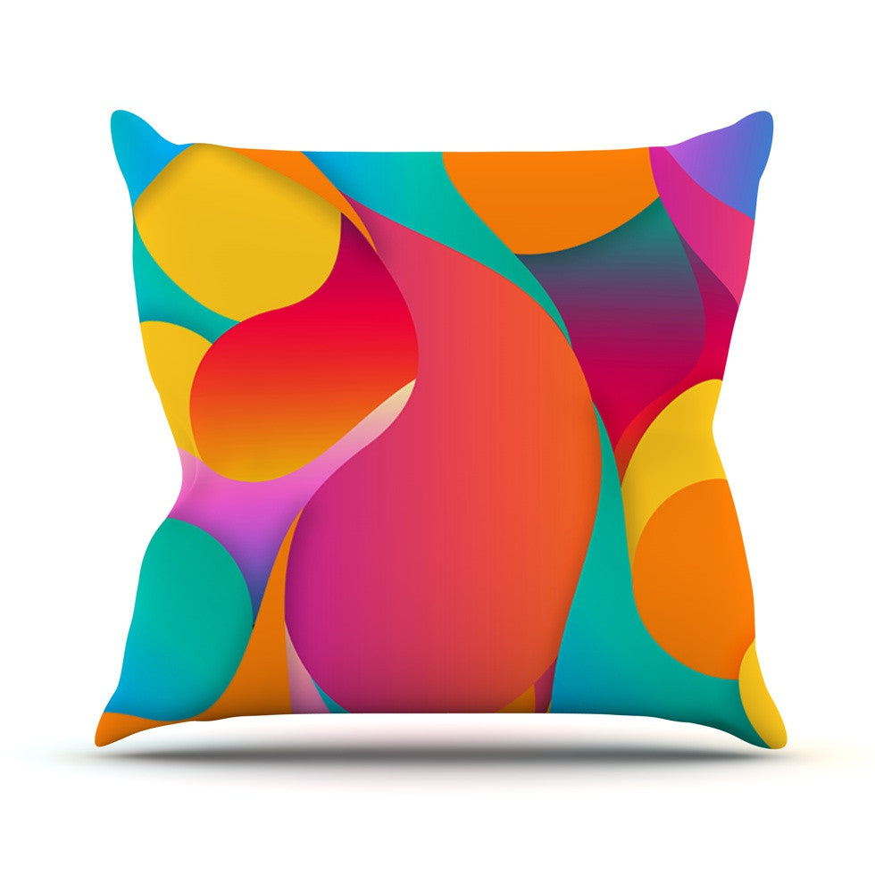 "Danny Ivan ""Still Life"" Warm Abstract Outdoor Throw Pillow - KESS InHouse  - 1"