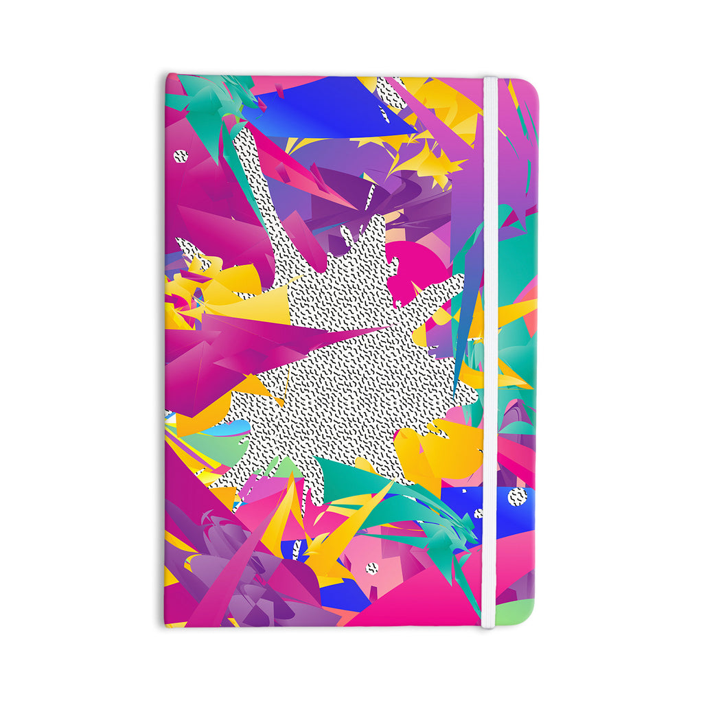 "Danny Ivan ""80's Abstract"" Pink Teal Everything Notebook - KESS InHouse  - 1"