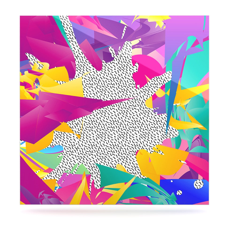 "Danny Ivan ""80's Abstract"" Pink Teal Luxe Square Panel - KESS InHouse  - 1"
