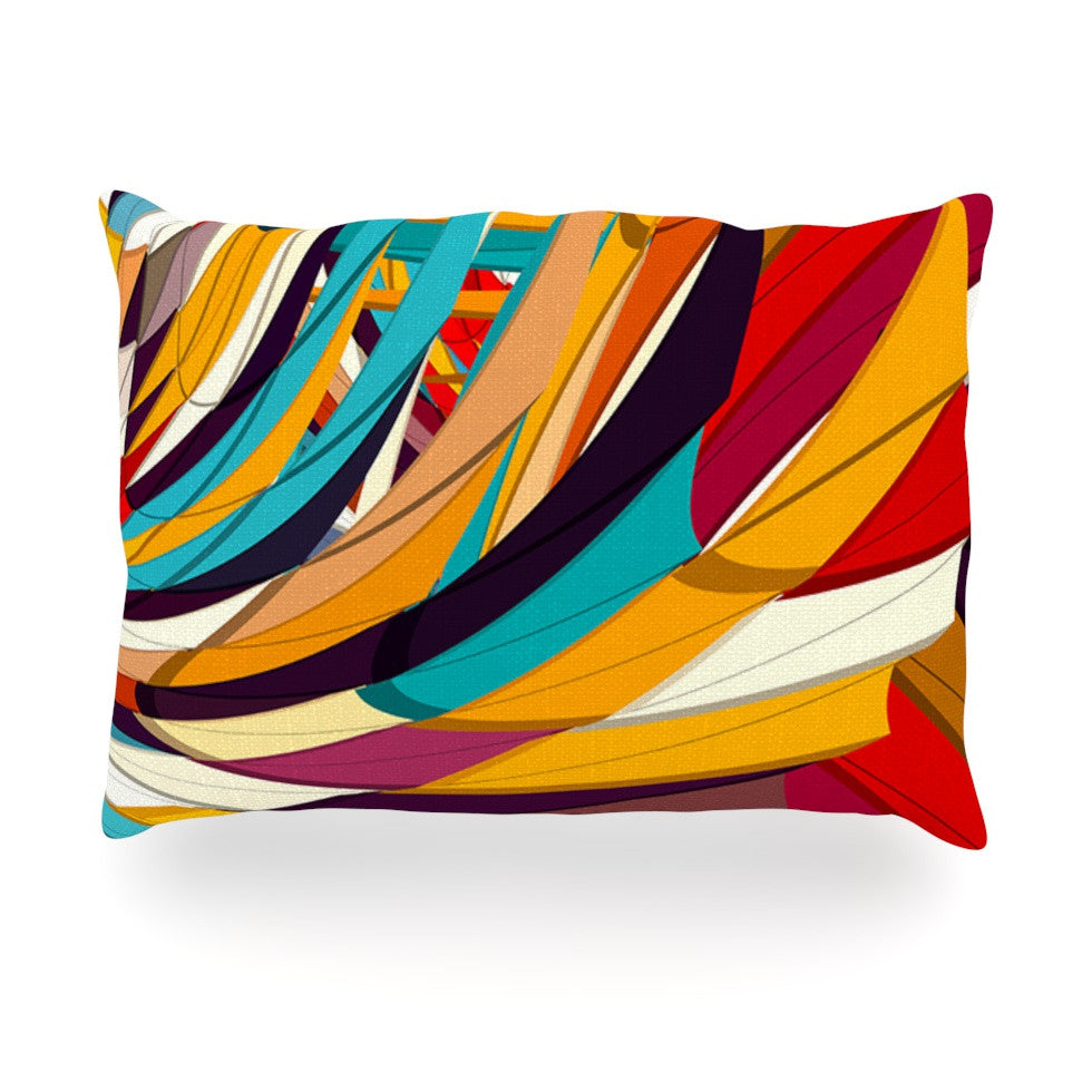 "Danny Ivan ""Demy World"" Orange Yellow Oblong Pillow - KESS InHouse"