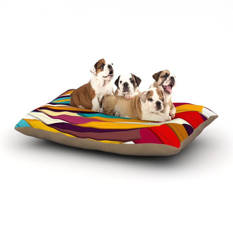 "Danny Ivan ""Demy World"" Orange Yellow Dog Bed - KESS InHouse  - 1"