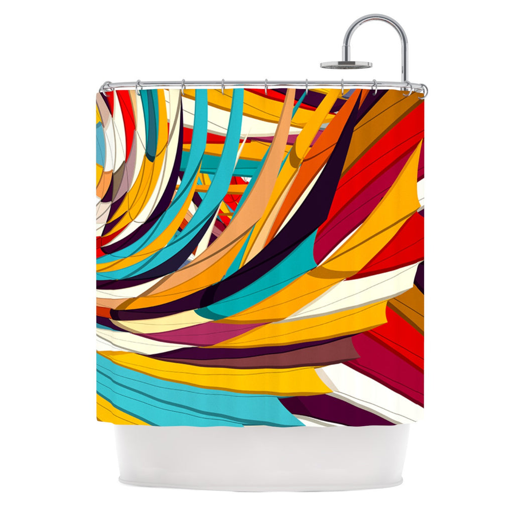 "Danny Ivan ""Demy World"" Orange Yellow Shower Curtain - KESS InHouse"