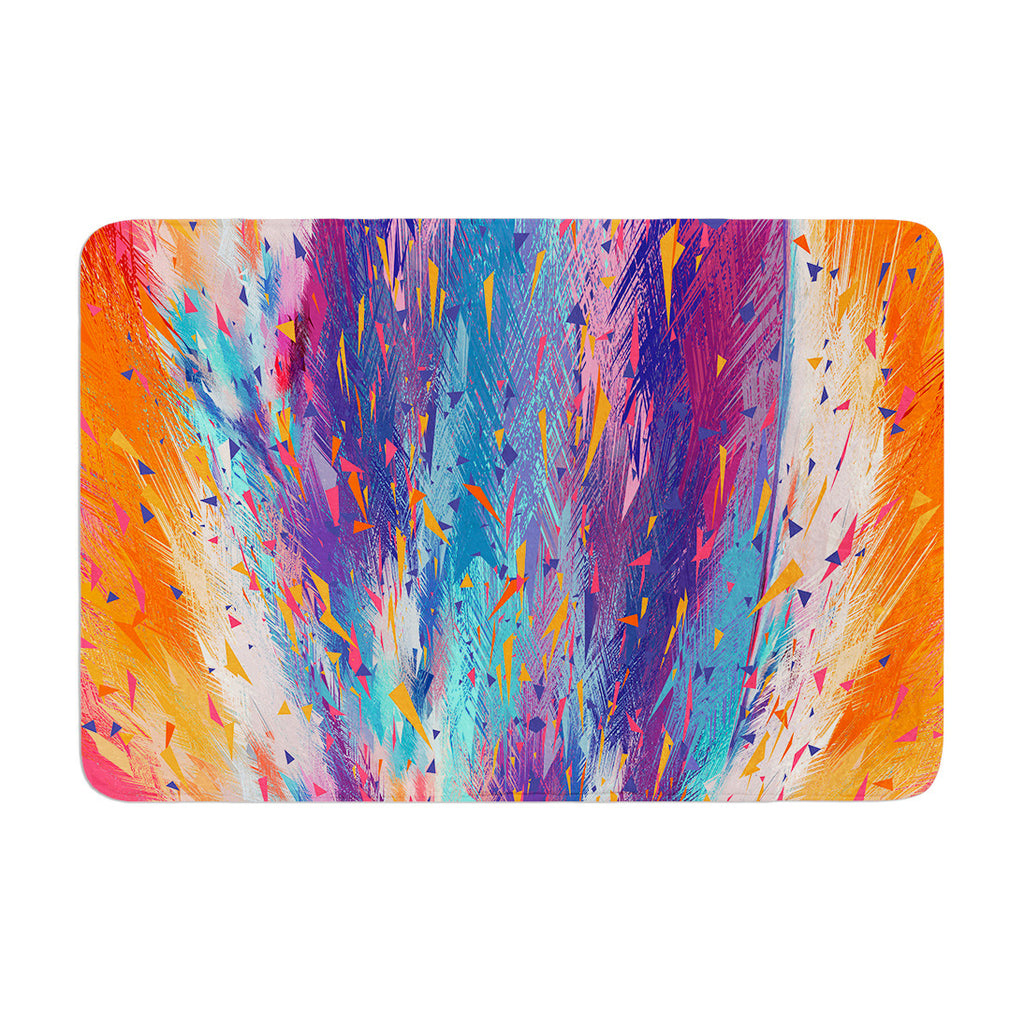 "Danny Ivan ""Colorful Fire"" Cool Fire Memory Foam Bath Mat - KESS InHouse"
